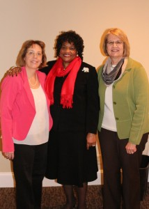 Featured speaker Dr. Shirley Hardin (Center) on student motivation. Dr.Diane Holliman (l.), president; and Dr. Betty Paulk (r.), membership secretary.