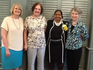 L to R, Betty Paulk, Anita Ondrusek, Betty McClendon, and Patricia Marks